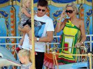 Le grand footballeur Steven Gerrard super musclé, sa splendide femme et leurs fillettes... Moments de détente au soleil !