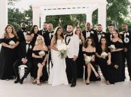 Selena Gomez demoiselle d'honneur en robe noire au mariage de sa cousine