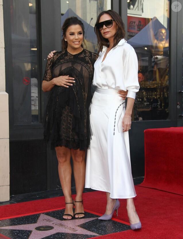 Eva Longoria enceinte, Victoria Beckham - E. Longoria reçoit son étoile sur le Walk Of Fame à Hollywood, le 16 avril 2018