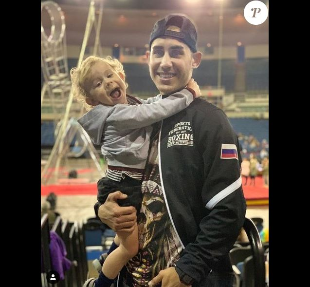 Maxim Dadashev avec son fils sur Instagram le 4 avril 2019.