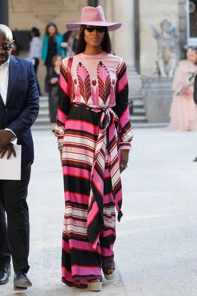 Naomi Campbell au défilé Haute Couture Valentino collection Automne-Hiver 2019/20 à l'hôtel Salomon de Rothschild à Paris, France, le 3 juillet 2019. © Veeren-Clovis/Bestimage