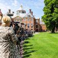 Les médias étaient présents en nombre pour le rendez-vous ! Le roi Willem-Alexander des Pays-Bas, la reine Maxima et leurs filles la princesse héritière Catharina-Amalia, la princesse Alexia et la princesse Ariane ont posé dans les jardins du palais Huis ten Bosch, leur résidence à La Haye, le 19 juillet 2019 lors de la traditionnelle séance photo des vacances d'été avec la presse.