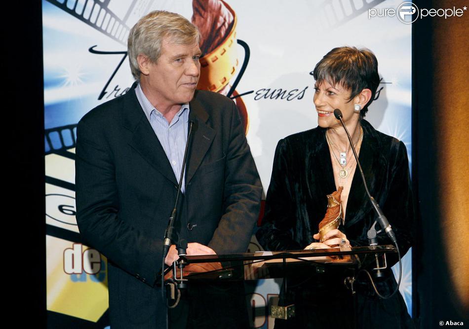 Isabelle Morini Bosc, ici avec Bruno Masure .