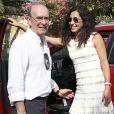 Mery Perello, fiancée de Rafael Nadal, lors d'un déjeuner de la famille Nadal avec le roi Juan Carlos Ier et la reine Sofia d'Espagne à Majorque le 26 juillet 2019.