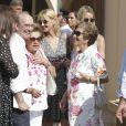 Ana María Parera (mère de R. Nadal) - Le roi Juan Carlos Ier et sa femme la reine Sofia vont déjeuner avec la famille Nadal à Majorque en Espagne le 26 juillet 2019.  King Juan Carlos I and his wife Queen Sofia go to lunch with the Nadal family in Majorca, Spain on July 26, 2019.26/07/2019 - Mallorca