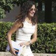 Mery Perello, fiancée de Rafael Nadal, lors d'un déjeuner avec le roi Juan Carlos Ier et la reine Sofia d'Espagne à Majorque le 26 juillet 2019 en marge de leur visite privée de la Rafa Nadal Tennis Academy.