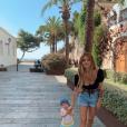 Caroline Receveur et son fils Marlon à Ibiza fin juillet 2019.