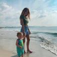 Caroline Receveur et Marlon à Ibiza fin juillet 2019.