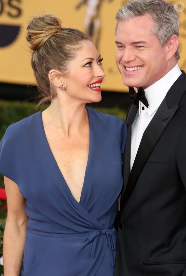 """Eric Dane et sa femme Rebecca Gayheart - 21ème cérémonie annuelle des """"Screen Actors Guild Awards"""" à l'auditorium """"The Shrine"""" à Los Angeles, le 25 janvier 2015."""