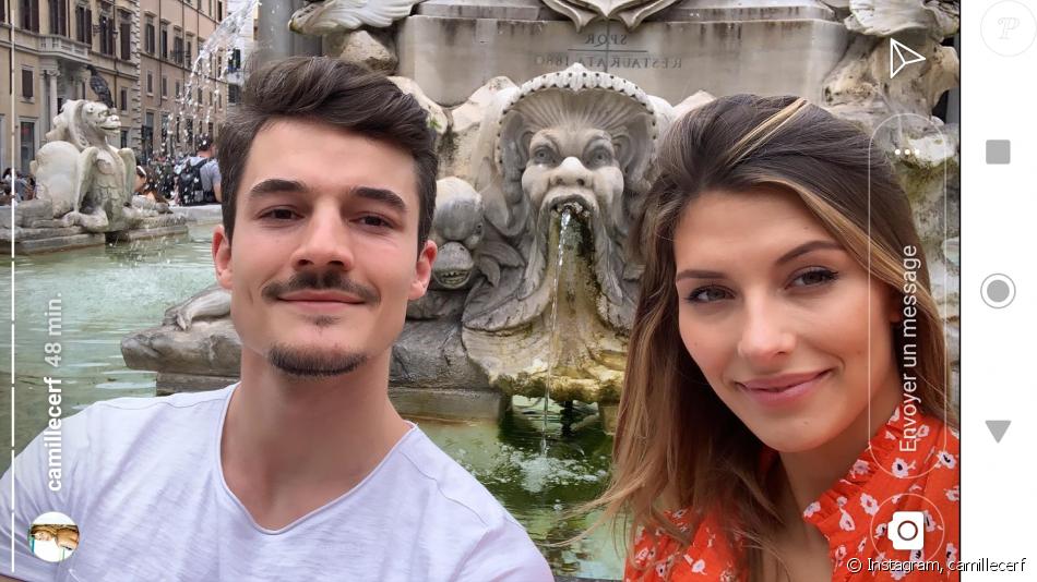 Camille Cerf et son petit ami Cyrille à Rome - Instagram, 11