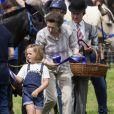 Mia Tindall et sa grand-mère la princesse Anne lors du Festival of British Eventing à Gatcombe Park le 4 août 2019.