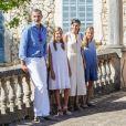 Le roi Felipe VI d'Espagne, la reine Letizia et leurs filles la princesse Leonor des Asturies et l'infante Sofia ont visité le 8 août 2019 la maison-musée Son Marroig entre Valdemosa et Deia, à Majorque, qui honore la mémoire de l'archiduc Louis-Salvador de Habsbourg-Lorraine, grand découvreur de la Méditerranée et amoureux de Majorque.