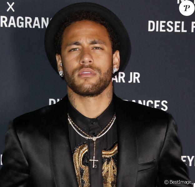 """Neymar Jr. lors de la soirée de lancement du parfum """"Spirit of the Brave"""" à la Salle Wagram à Paris, France, le 21 mai 2019. Neymar est l'ambassadeur pour la marque de parfum Diesel. © Marc Ausset-Lacroix/Bestimage"""