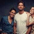 Fanny Leeb pose avec son frère Tom et sa soeur Elsa, au Montreux Jazz Festival. Photo de @anoushabrar, sur Instagram le 13 juillet 2019.