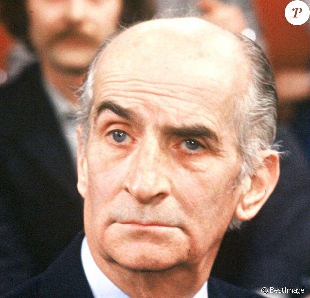 Image d'archives de Louis de Funès, Paris, le 30 novembre 1981