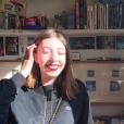 Simone Machuel, la seconde fille de Karin Viard, sur Instagram, en 2017.