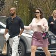 Exclusif - Ashley Graham et son mari Justin Ervin se baladent à New York le 14 avril 2019.