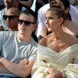 Celine Dion, Pepe Muñoz - Front row du Défilé de mode Haute-Couture Automne/Hiver 2019/2020 Alexandre Vauthier à Paris. Le 2 juillet 2019.