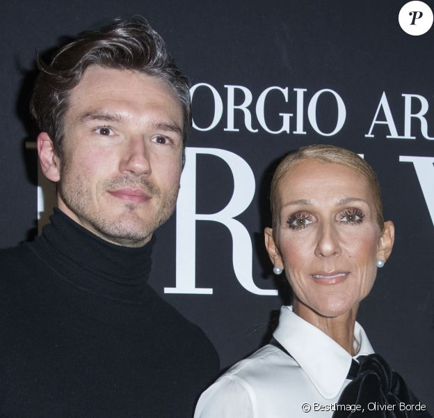 """Celine Dion et son ami Pepe Muñoz en backstage du défilé de mode Haute-Couture printemps-été 2019 """"Giorgio Armani Prive Haute Couture"""" à Paris le 22 janvier 2019."""