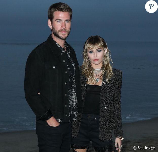 Liam Hemsworth, Miley Cyrus - Photocall - Saint Laurent présente sa collection homme printemps-été 2020 à Malibu le 6 juin 2019