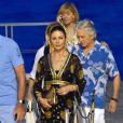 Michael Douglas et sa femme Catherine Zeta-Jones en vacances à Portofino en Italie le 31 juillet 2019.
