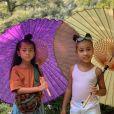 Kim Kardashian et ses enfants sur Instagram.