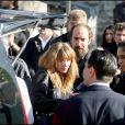 Roxanne et Julie Depardieu lors des obsèques de Guillaume Depardieu