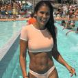 Wafa dévoile son corps athlétique sur Instagram, le 9 juillet 2019