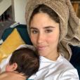 """Jesta de """"Koh-Lanta"""" et son fils Juliann, août 2019"""