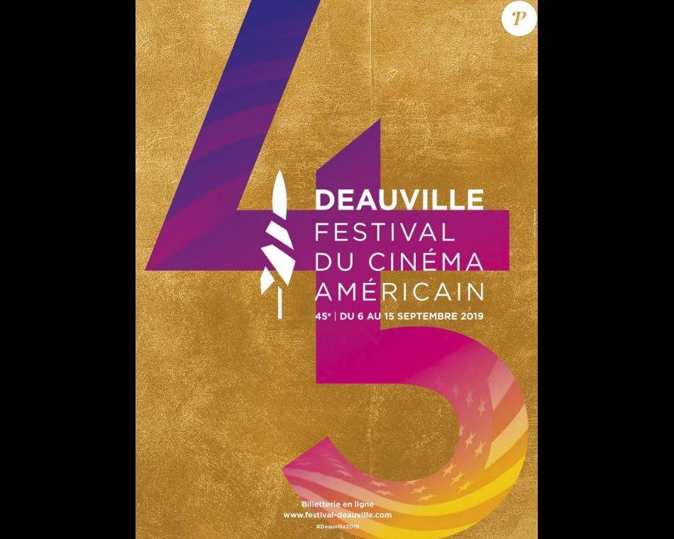 Affiche du 45e Festival de Deauville qui se déroule du 6 au 15 septembre 2019.