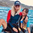 Laeticia Hallyday a fait de la plongée sous-marine avec sa fille Joy le 13 août 2019 à Saint-Barthélemy.