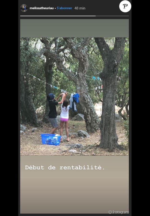 Les enfants de Jamel Debbouze et Mélissa Theuriau aident leurs parents dans les tâches ménagères (le 23 août 2019).