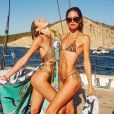Candice Swanepoel et Doutzen Kroes à Ibiza. Août 2019.