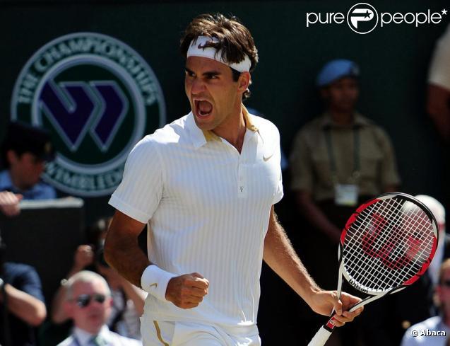 Roger Federer, le 5 juillet 2009, lors de la finale du tournoi de Wimbledon
