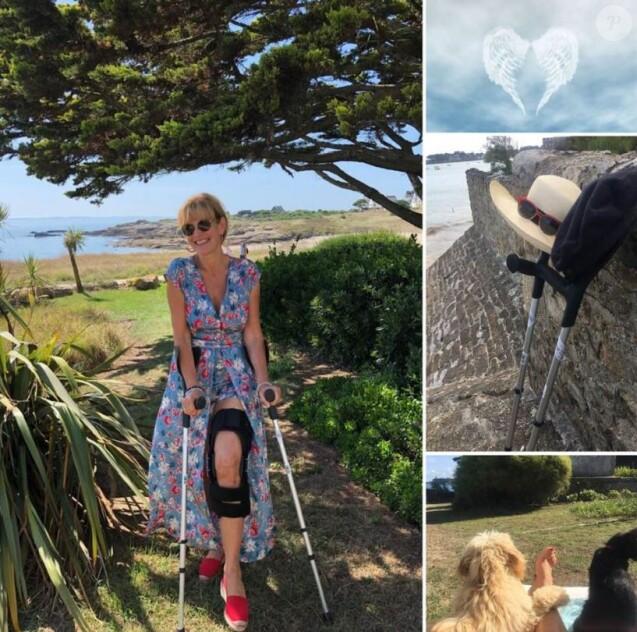 Mirella Lepetit, femme de Laurent Voulzy, a fait une grosse chute en Bretagne (Août 2019).