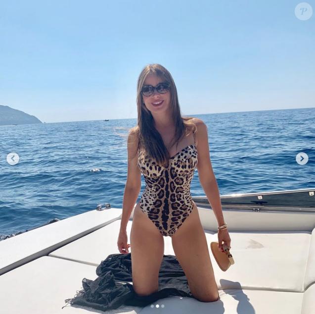 Sofia Vergara en vacances en Italie. Juillet 2019.