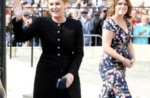 Beatrice et Eugenie d'York, leurs chéris et Fergie au mariage d'Ellie Goulding