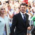 Katy Perry et Orlando Bloom au mariage de la chanteuse Ellie Goulding et de son compagnon Caspar Jopling le 31 août à York Minster, la cathédrale d'York, dans le nord de l'Angleterre.