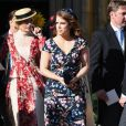 La princesse Eugenie d'York au mariage de la chanteuse Ellie Goulding et de son compagnon Caspar Jopling le 31 août à York Minster, la cathédrale d'York, dans le nord de l'Angleterre.