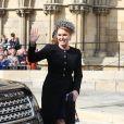 Sarah Ferguson, duchesse d'York, au mariage de la chanteuse Ellie Goulding et de son compagnon Caspar Jopling le 31 août à York Minster, la cathédrale d'York, dans le nord de l'Angleterre.