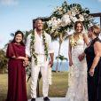Les photos du mariage de Dwayne Johnson et Lauren Hashian le 18 août 2019.