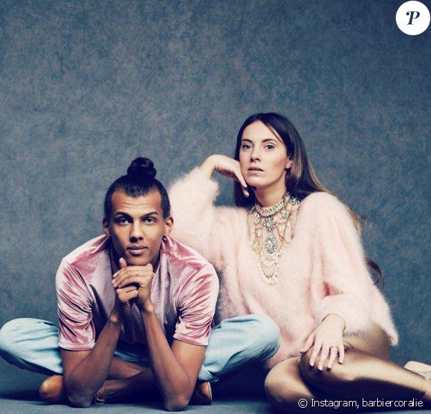 Coralie Barbier et Stromae, sur Instagram.