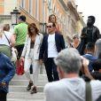 Stefano Accorsi et sa femme Bianca Vitali se promènent dans les rues de Venise en Italie le 2 septembre 2019.Stefano Accorsi et sa femme Bianca Vitali se promènent dans les rues de Venise en Italie le 2 septembre 2019.