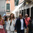 Stefano Accorsi et sa femme Bianca Vitali se promènent dans les rues de Venise en Italie le 2 septembre 2019.