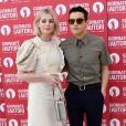 Rami Malek et sa compagne Lucy Boynton à la soirée Miu Miu en marge de la 76e édition du festival du film de Venise, la Mostra, au Sala Volpi à Venise, Italie, le 1er septembre 2019.