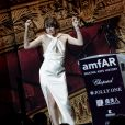 Milla Jovovich - Vente aux enchères de la soirée AmfAR Gala Cannes 2019 à l'Eden Roc au Cap d'Antibes lors du 72ème Festival International du Film de Cannes, le 23 mai 2019. © Jacovides / Moreau / Bestimage