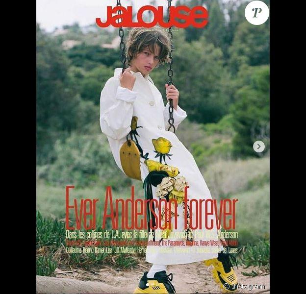 Ever Anderson, fille de Milla Jovovich, pose en couverture du magazine Jalouse (septembre 2019).