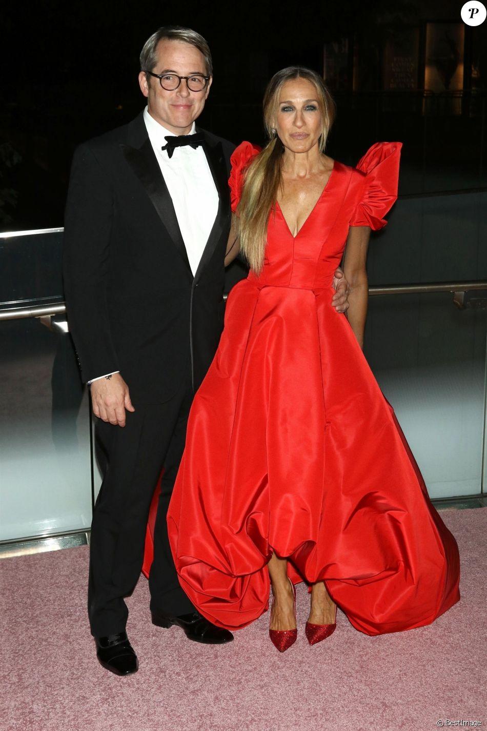 Matthew Broderick et sa femme Sarah Jessica Parker - Les célébrités arrivent à la soirée New York City Ballet 2018 au théâtre David H. Koch au Lincoln Center à New York City, le 27 septembre 2018