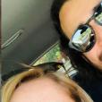 Lara Fabian en vacances en Sicile, avec son mari Gabriel. Le 21 juillet 2019.