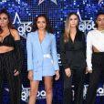 """Little Mix au photocall des """"Global Awards 2018"""" à Londres, le 1er mars 2018."""